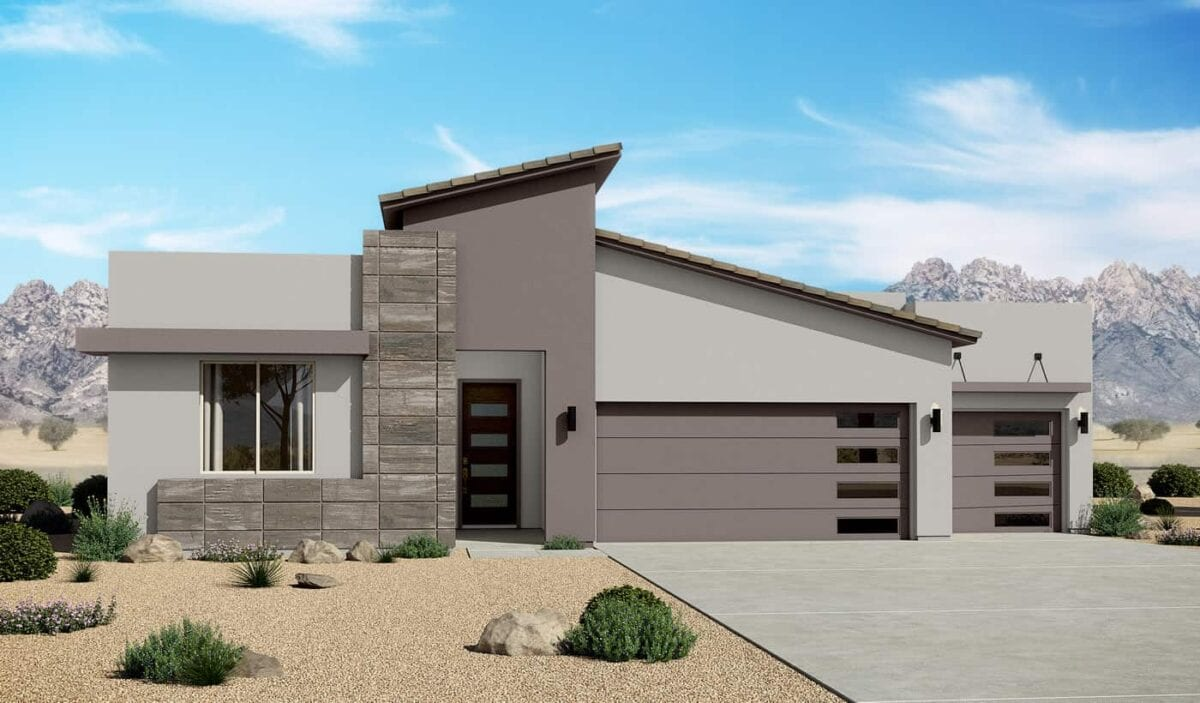 2124 Contemporary 3 Car Garage Home