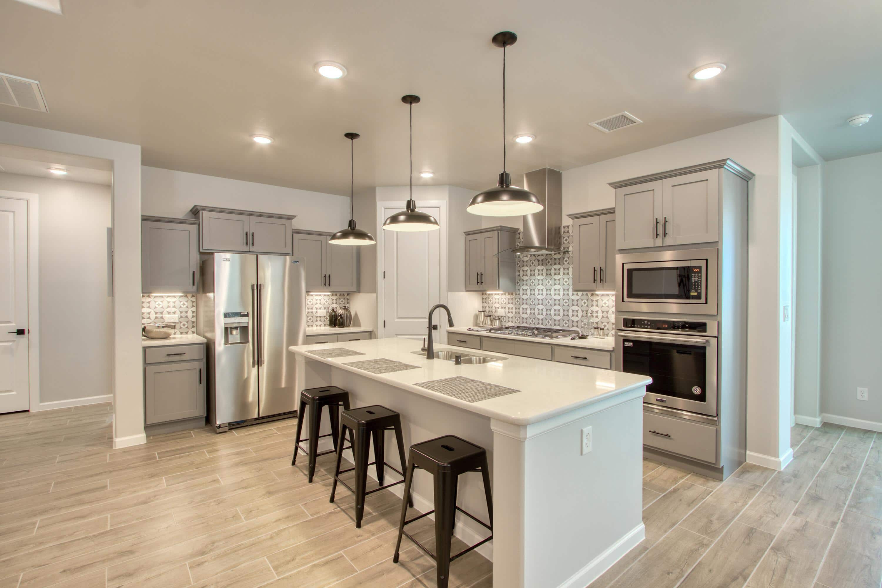 Kitchen is new model home